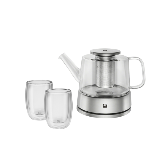 双立人 玻璃茶壶  拿铁杯套装